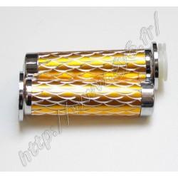 Poignees aluminium dorees