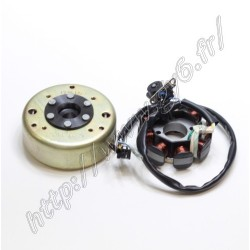 Rotor / stator 8 poles 125cc DC