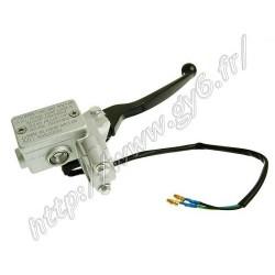 Maitre cylindre de frein avant complet avec levier de frein, et contacteur de frein.