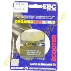 Plaquettes de freins EBC SFA151 SYM MIO 50