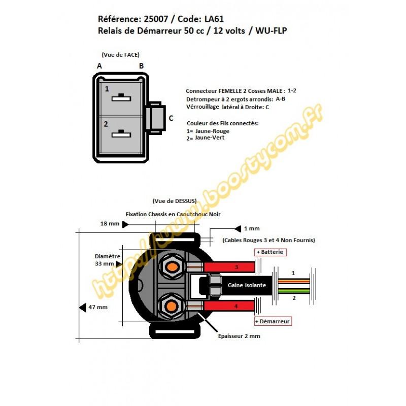 relais de demarreur scooter chinois 50 4t gy6 139qmb sym orbit 1 et 2. Black Bedroom Furniture Sets. Home Design Ideas