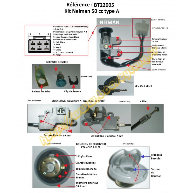 Schema Elettrico Kymco Agility 125 : Kit serrures barillets neiman kymco agility