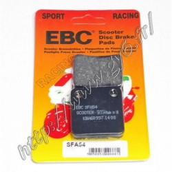 Plaquettes de frein racing EBC simple piston.