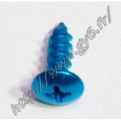Vis alu anodisee bleu 4.8x16