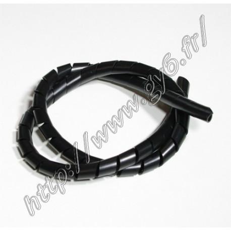 Gaine spiralee noire 13mm